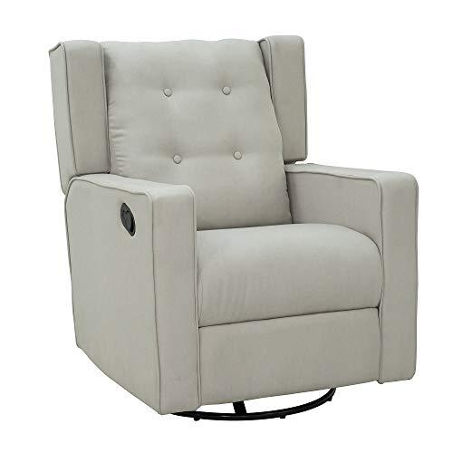 HOMCOM Polyester Linen Fabric Recliner Chair