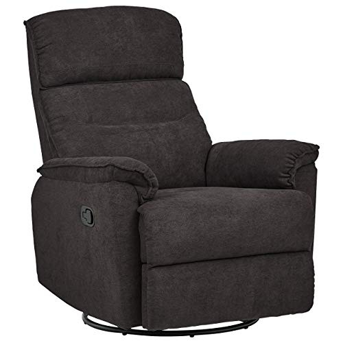Ravenna Home Pull Recliner With Rotating 360 Swivel Glider