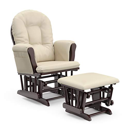 Stork Craft Hoop Glider and Ottoman Set Chair for Breastfeeding