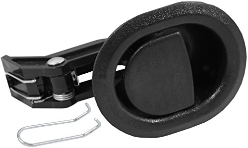 Reliable Recliner Replacement Parts HANDLE COMES WITH CABLE HOOK Small Oval Black Plastic Pull Recliner Handle 3' by 3.5' fits Ashley and Other Manufacturer Brands. Handle Only - Fits both 3mm and 6mm Cables (Car Door Flapper Style) Chair Release Handle for Sofa, Couch or Recliner