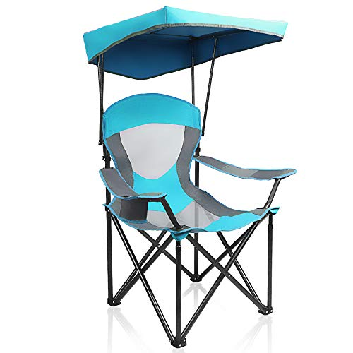 ALPHA CAMP Heavy Duty Canopy Lounge Chair