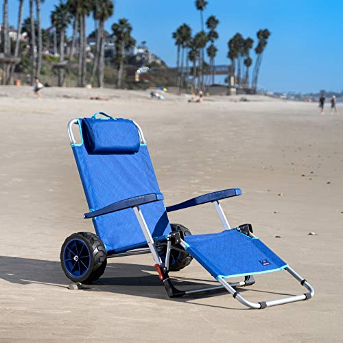 Mac Sports 2-in-1 Beach Folding Lounge Chair for elderly