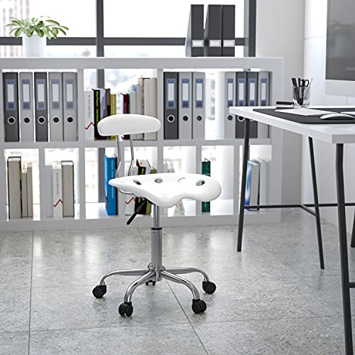 LF-214-WHITE-GG White and Computer Task Chair