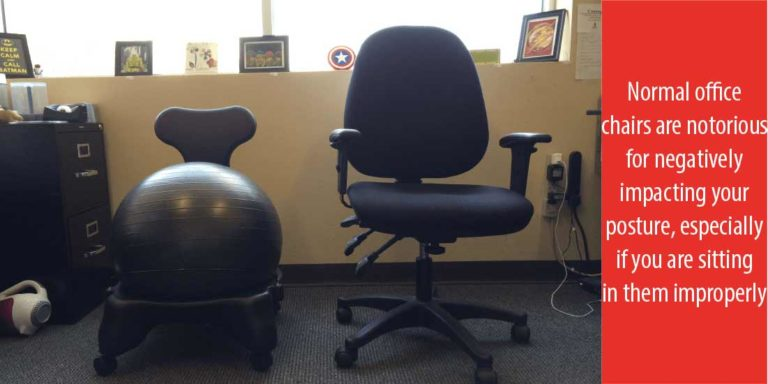 office chair vs stability ball