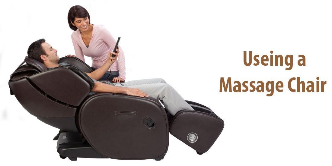 Using a massage chair