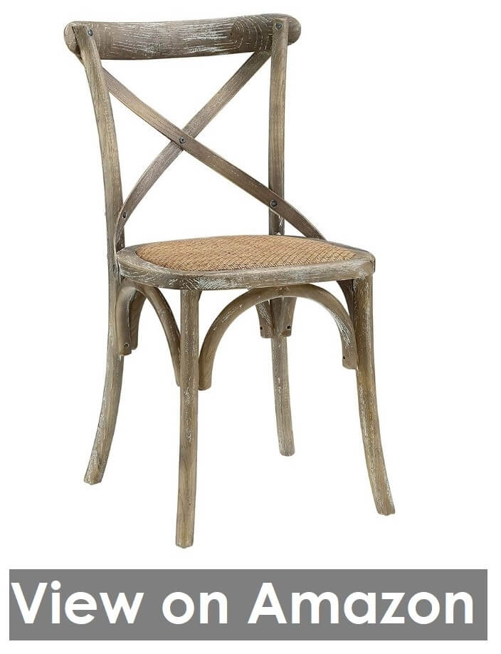 Solid Elm Wood Dining Side Chair