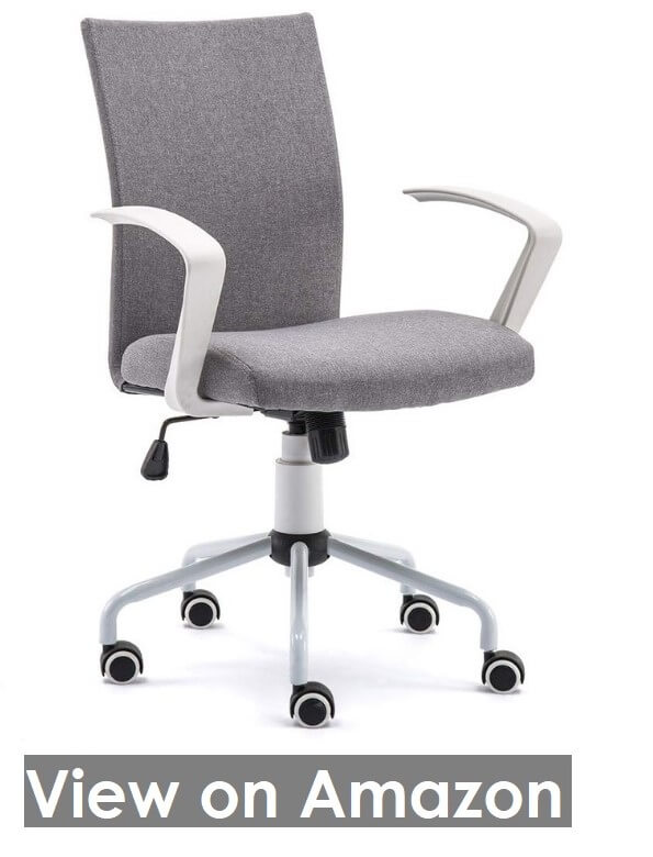 DJ·Wang Grey Modern Desk chair