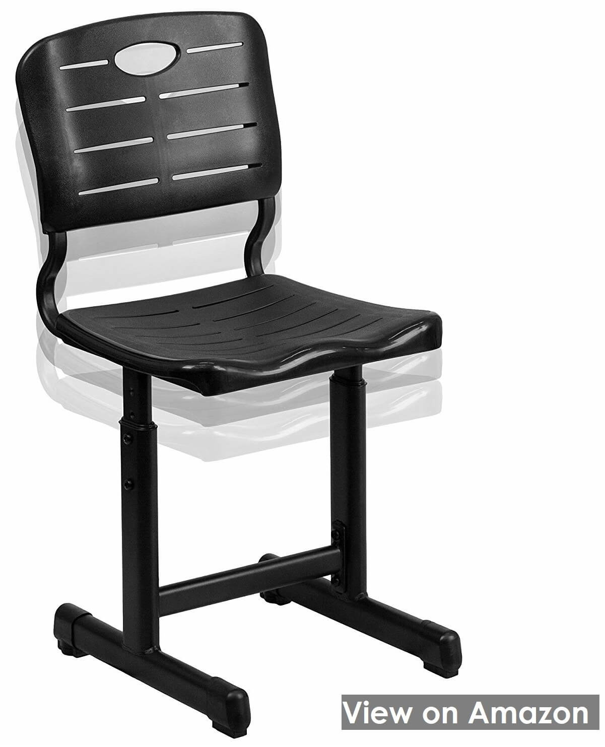 Adjustable Height Black Student Chair by Flash Furniture