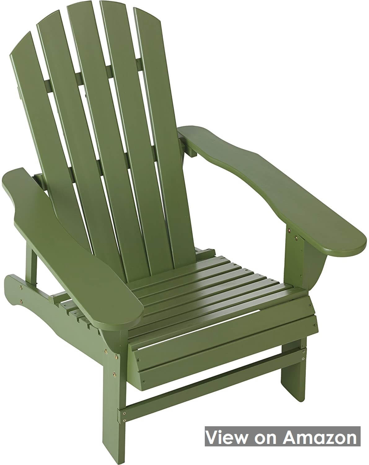 Classic Sage Painted Wood Adirondack Chair by Leigh Country