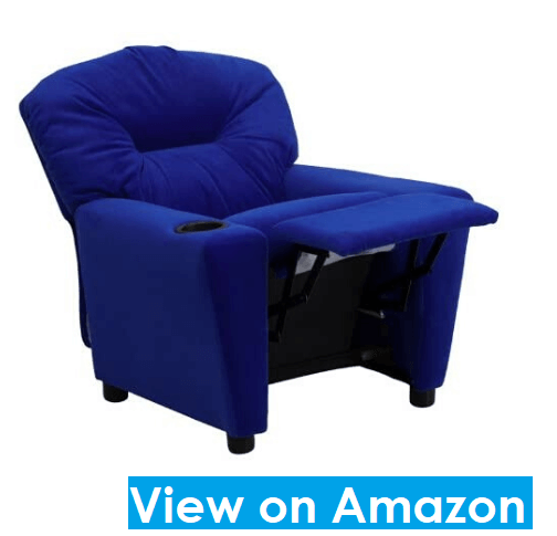 Flash Furniture Contemporary Blue Microfiber Kids Recliner
