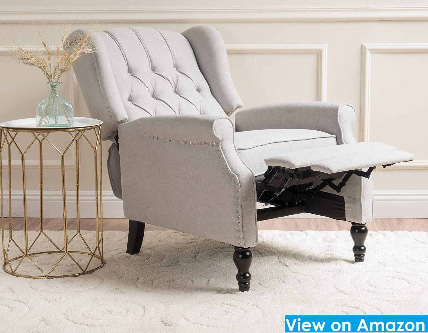 Home Elizabeth Tufted Fabric Arm Recliner